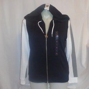 VS Pink Hoodie L Zip Up Jacket Sweatshirt Top Logo